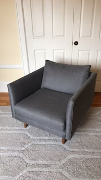 Mid-century Article Arm Chair - Graphite Gray San Francisco, 94117