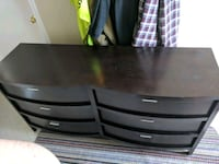 Dark stained dresser and matching night stands.obo Burnaby, V5C 1K3