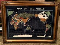 Gemstone map of the world