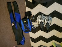 Wetsuit with snorkel kit and flippers Cambridge, N1R 8A2