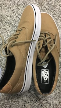 Brand new vans with cork heal, size 11
