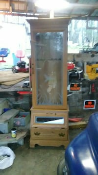 brown wooden framed glass cabinet LaFayette, 30728