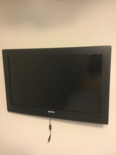 Wall mount Sanyo flat screen TV 26""