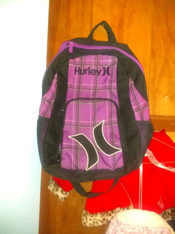 ad66d679d8 Purple and black Hurley backpack