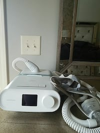 white and gray corded home appliance