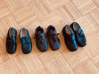 three pairs of assorted-color shoes 543 km
