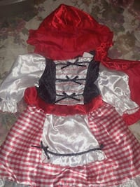Red riding hood costume Toddler 2/4 new $10 Bakersfield, 93307