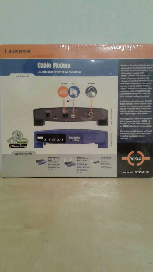 Linksys cable modem NEW 1