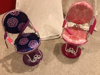 Chairs for dolls beauty salon for American girl doll size Aldie, 20105