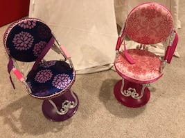 Chairs for dolls beauty salon for American girl doll size