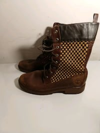 Timberland Women's Boots, Brown Leather, Size 9 Woodbridge