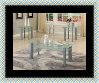 Glass white coffee table  61 km