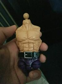 brown and purple action figure body