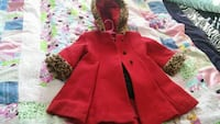 toddler's brown and red button-up parka coat Aynor, 29511
