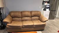 Brown couch - 3 seat and 2 seat leather Vancouver, V5P 2L3