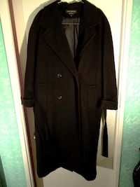 Donny Brook Black 100% Wool Full Length Women Coat (New)! Richmond Hill