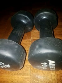 two black and gray dumbbells Calgary, T2R 0J7