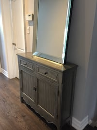 Beautiful grey hall or any room courier with storage retail $350 selling it for $200 Vaughan, L4H 2G3