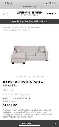 white leather tufted sectional couch null, V0N