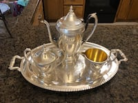 Vintage 1875 Stainless Steal Tea Set with Platter Maple Grove, 55311