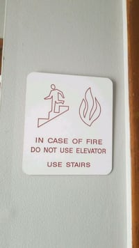 """Real """"in case of fire"""" sign Hackensack, 07601"""