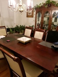 Dinning table and chairs. Cherry oak wood.
