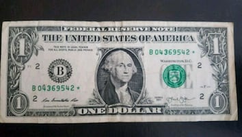 $1 Bill STAR NOTE (542*)