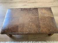 Pottery Barn Caden Leather Ottoman Mission Viejo, 92691