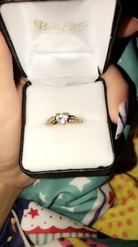 Silver and gold ring with box make offer Catawba, 28609