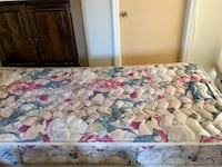 Twin bed set includes mattress, bed frame, and box spring good condition  Watervliet, 12189