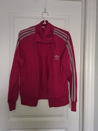 Red and white adidas zip-up jacket St Catharines, L2S 4E2