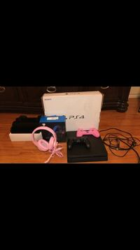 Ps4 set ! Including cool system , monitor , controller, head set (microphone) , case for controller . BRAND NEW USE ONCED!