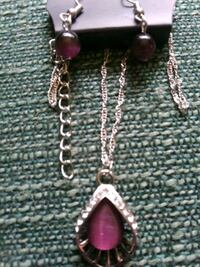 silver chain necklace with pendant Alpena, 49707