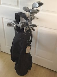 black and gray golf bag with golf clubs Hanover, N4N 1P8