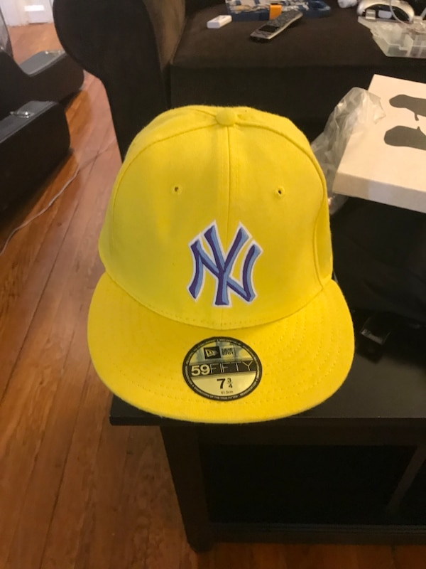 Used yellow and blue New York Yankees fitted cap for sale in Montclair 64c4e401a63