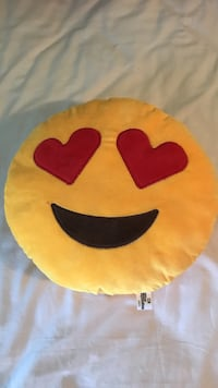 yellow and red emoji throw pillow St. Louis, 63123