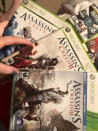 Xbox 360 Assassin Creed 1-3 Games! Cookeville
