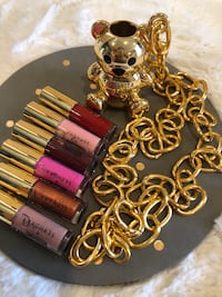 Moschino Gold Bear chain necklace w/ mini tube lipglosses from Sephora Long Beach, 90807