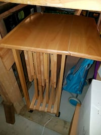 solid wood t.v. trays;excellent condition   Barrie, L4M 6W4