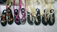 two pairs of black and pink sandals Laval, H7M