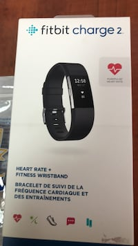 Fitbit Charge 2, original box and receipt with extra wrist bands