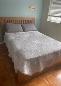 double size bed with mattress, dresser and side table Mississauga, L5V 2H4