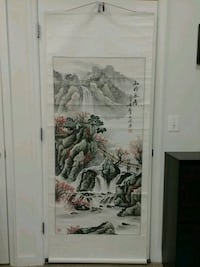 Chinese Waterfall Landscape Scroll Art Painting  Baltimore, 21201
