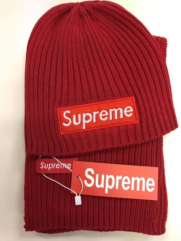 a1d6d26c Used Supreme hat and scarf set for sale in Binghamton - letgo