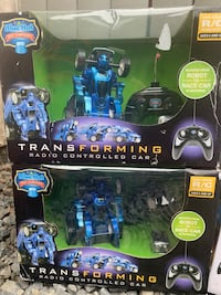 Transforming robot radio controlled car by blue hat toy company $5 each Bethlehem, 18018
