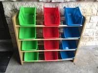 assorted color plastic toy organizer Missouri City, 77459
