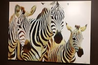 Zebra canvas wrap picture Calgary, T2X 3B6