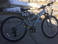 Youths Blue and black Specialized hardtail mountain bike