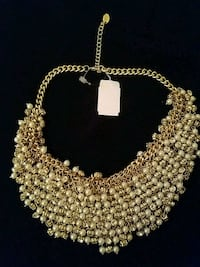 Exquisite pearl and crystal gold necklace  Halethorpe, 21227