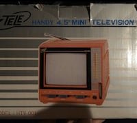 "REDUCED! Mini Red Collector's 4.5"" TV"